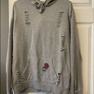 Gray pull over sweater